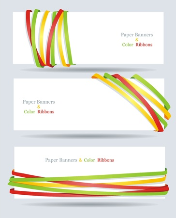 Ribbon and banner collection  Vector bookmarks