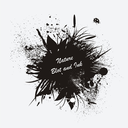 ink art: Vector illustration of black ink blot