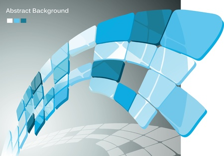 Abstract background with white and blue  Vector