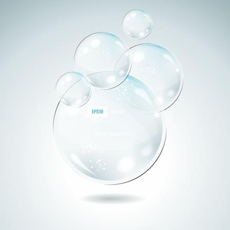Idea Bulbs. Glass Chat Bubbles  Vector