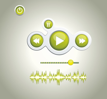 Light Web Elements: Buttons, Switchers, Player, Audio Stock Vector - 14128720