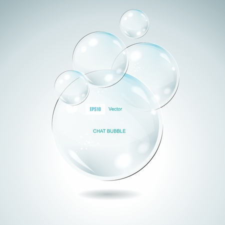 Vector Idea Bulbs. Glass Chat Bubbles  Vector