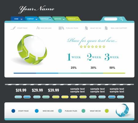 web design icon: Vector Website Design Template