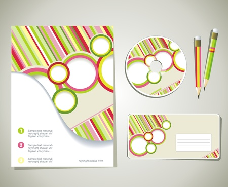 Editable corporate Identity template Vector
