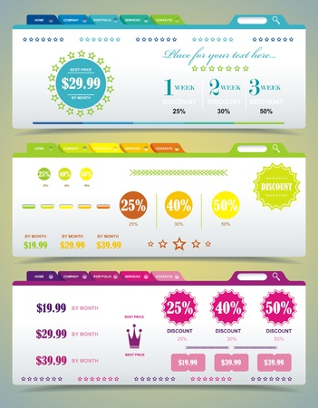 Price table set Vector