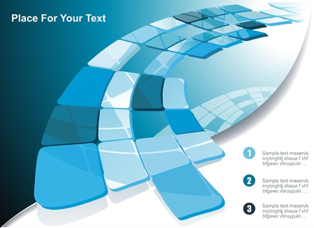 footer: Blue technological banner.
