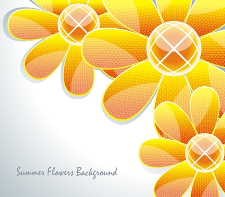 artsy: Abstract  glass flower pattern.