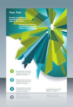 business: Blu e verde bandiera tecnologica. Vettoriali