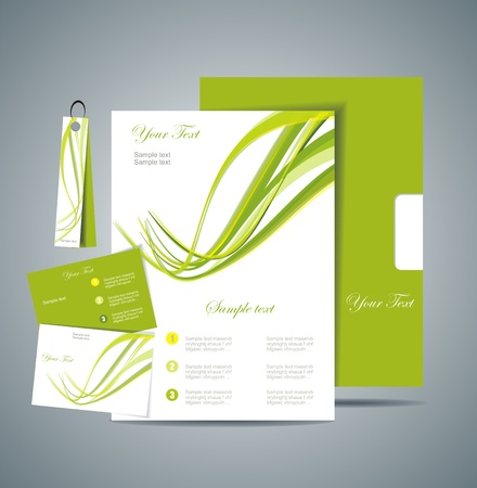 name calling: Corporate Identity Template  Illustration