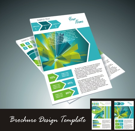 magazine template: brochure design element