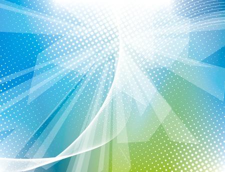 Vector impresionantes fondos abstractos azules