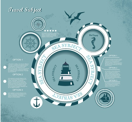 web design bubble, voyage subject  Vector