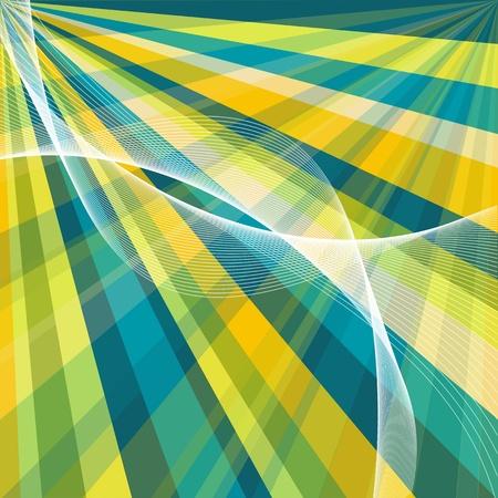 vector blue retro burst abstract background  Vector