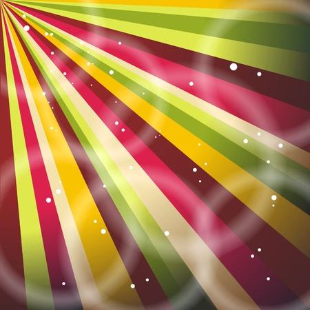 fete: Multicolor Sunbeams grunge background. A vintage poster.