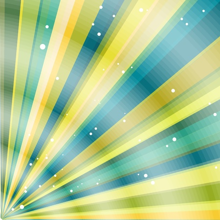 Multicolor beams grunge background. A vintage poster. Vector