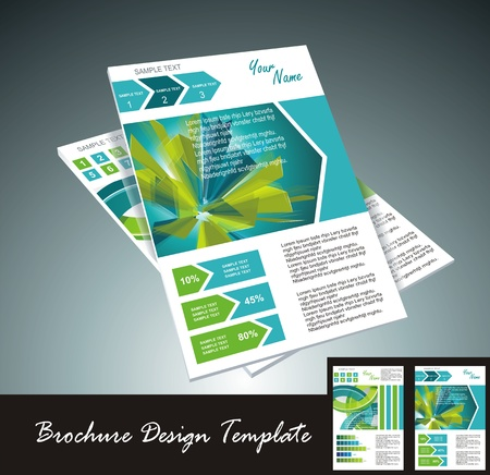 content page: brochure design element, vector illustartion Illustration