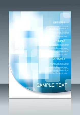 page decoration: Blue  elegant abstract background