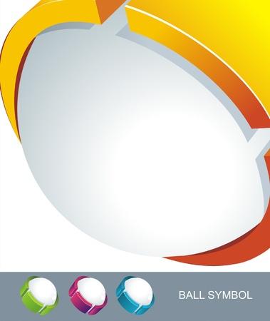 Sphere 3d design. Vector symbol.  Vector