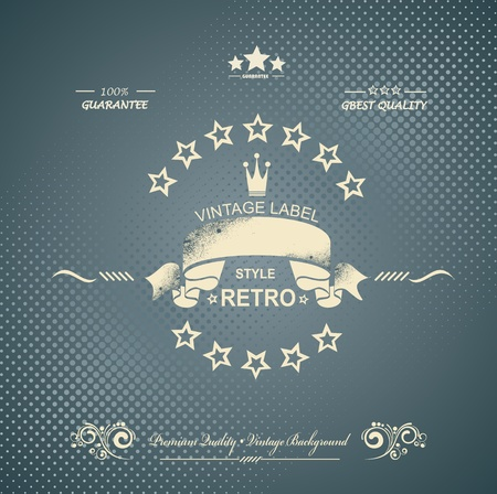 Premium Quality and Satisfaction Guarantee Label on Vintage Background