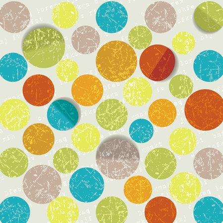 70s: retro circle pattern background