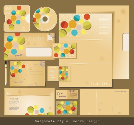 Selected Corporate Templates Vector
