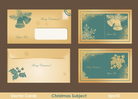 Vintage christmas card Stock Vector - 15462183