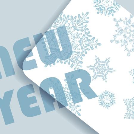 Blue Christmas card Stock Vector - 15462185