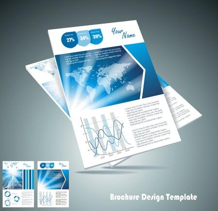 brochure layout: brochure design element