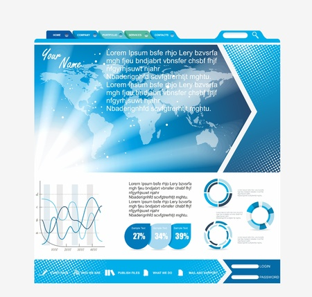 Web page layout design Stock Vector - 15589957
