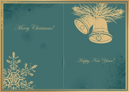 Vintage Christmas Card Stock Vector - 15772435