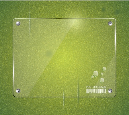 grass blade: Green grass natural background with glass  Illustration
