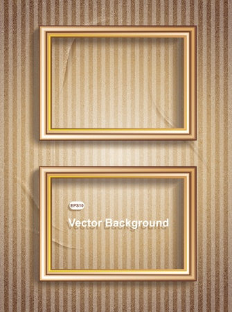 Picture Frame Wallpaper Background Stock Vector - 15772433