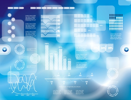 toque: Modern fundo tecnologia virtual Ilustra��o