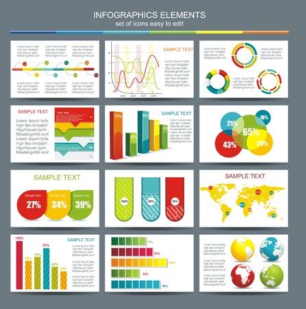 graficos de barras: Detalle ilustraci�n infograf�a mapa del mundo y Gr�ficos Informaci�n