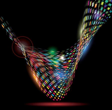 imprenta: Mosaico colorido del fondo del modelo del dise�o