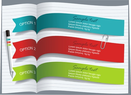 an opinion: Ribbons and banners design Illustration