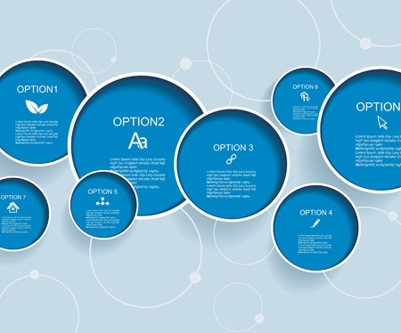 Web design  with blue bubbles
