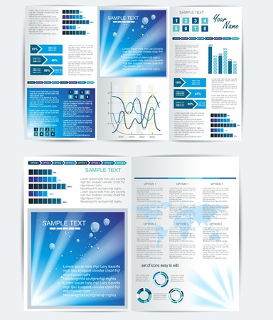 Vector BiFold Brochure Template Design Or Flyer Layout To Use