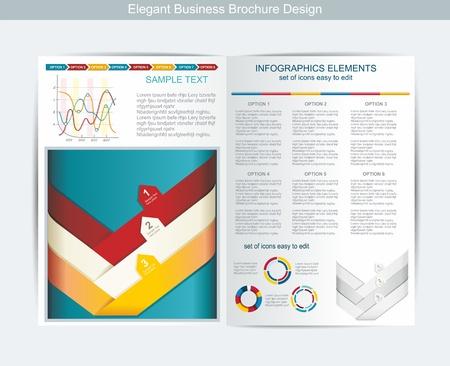 elegant business brochure design Stock Vector - 16357031