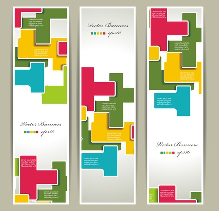 set of geometry banners Vector