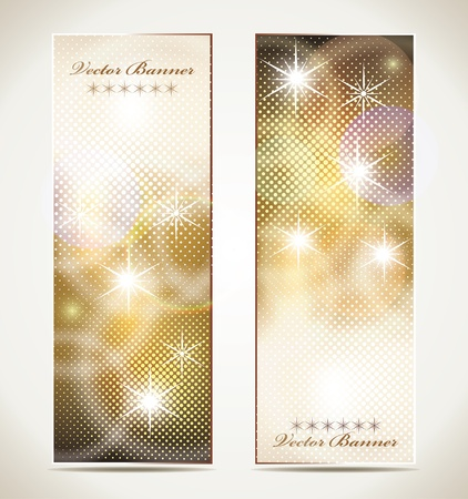 Greeting cards with stars and copy space. Illustration
