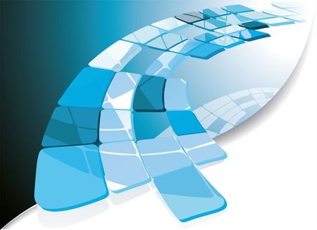 header: Azzurro, bandiera tecnologica. Illustrazione vettoriale