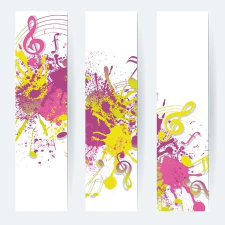 Music notes banner design, vector illustration Stock Vector - 16560529