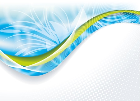 header: Vector impressionante astratto blu Vettoriali