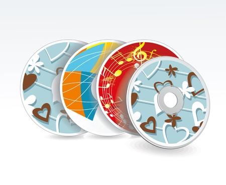 cd label: Set of cd cover design template design.  Illustration