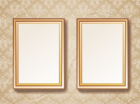 Vintage gold picture frame Stock Vector - 16612660