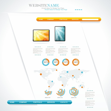 modern web site editable template  Vector