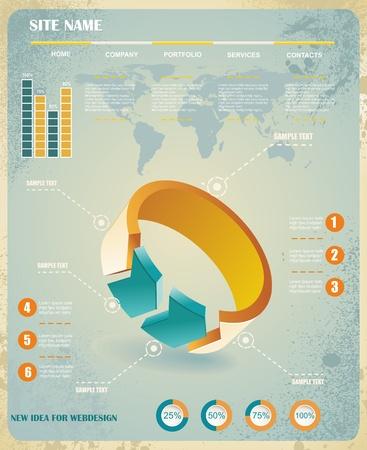 economic growth: infographics set and Information Graphics