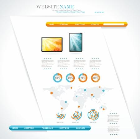 modern web site editable template Stock Vector - 17126822