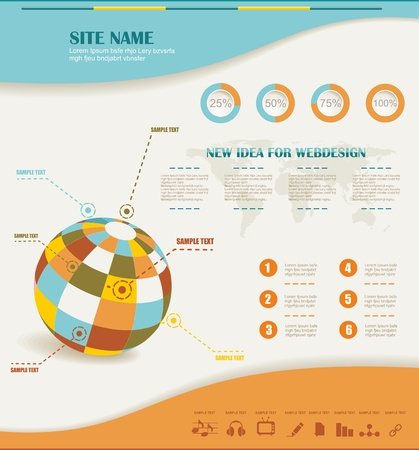 growth rate: infographics set and Information Graphics